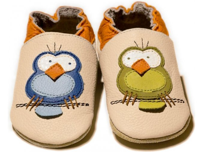 liliputi soft baby shoes silent birds 3795
