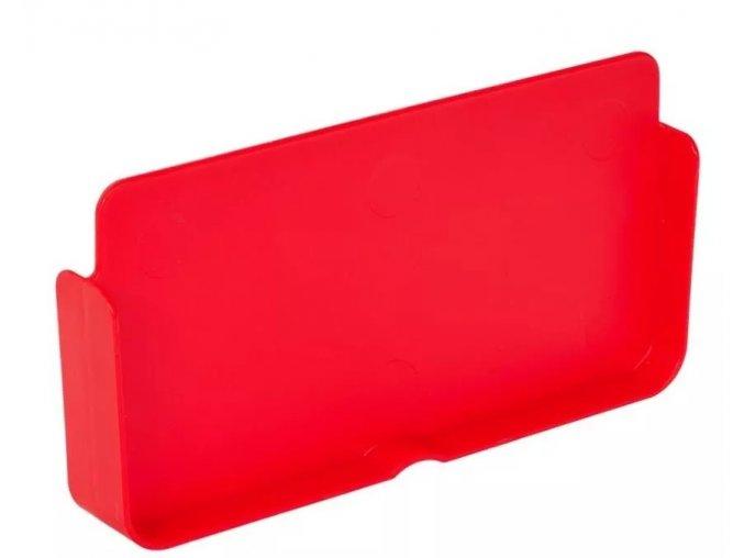 dělící přepážka červená