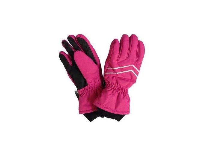 dětské vyteplené rukavice do lesní školky růžové