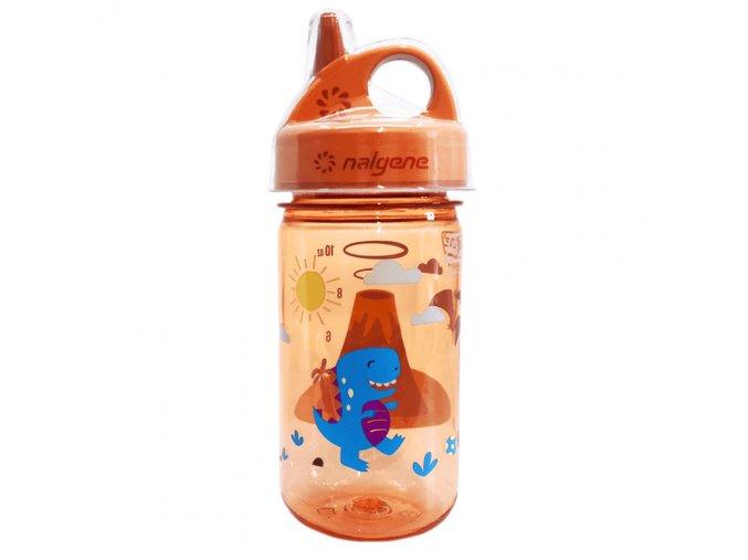 Nalgene Dětská lahev Grip´n Gulp 350 ml ORANGE/VOLCANO