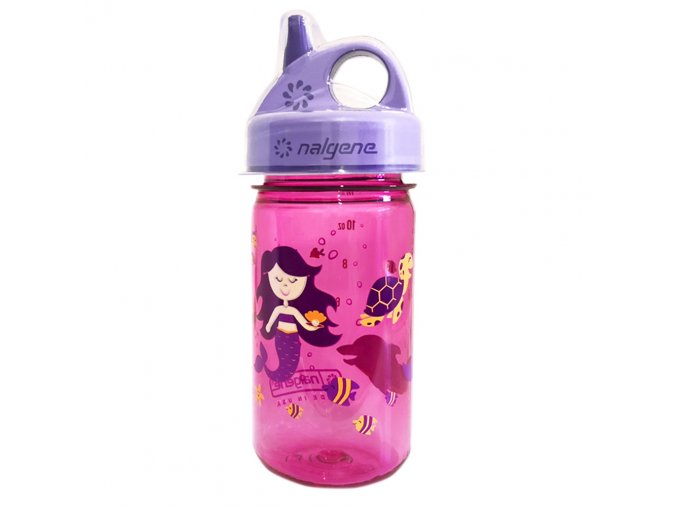 Nalgene Dětská lahev Grip´n Gulp 350 ml PINK/PURPLE MERMAID