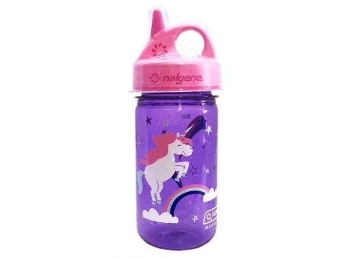 Nalgene Dětská lahev Grip´n Gulp 350 ml PURPLE/PINK UNICORN
