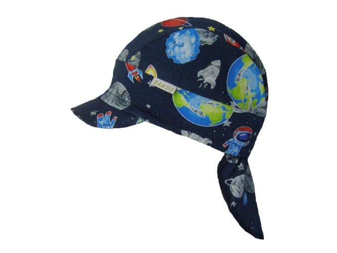 dětská letní čepice pirátka vesmír