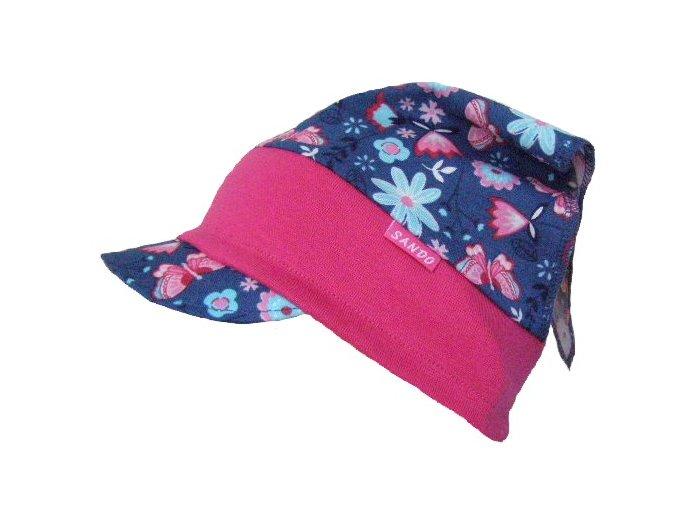 dívčí letní čepice šátek s kšiltem