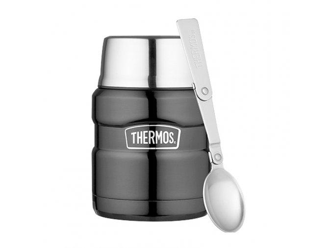 termoska na jídlo metalicky šedá 2