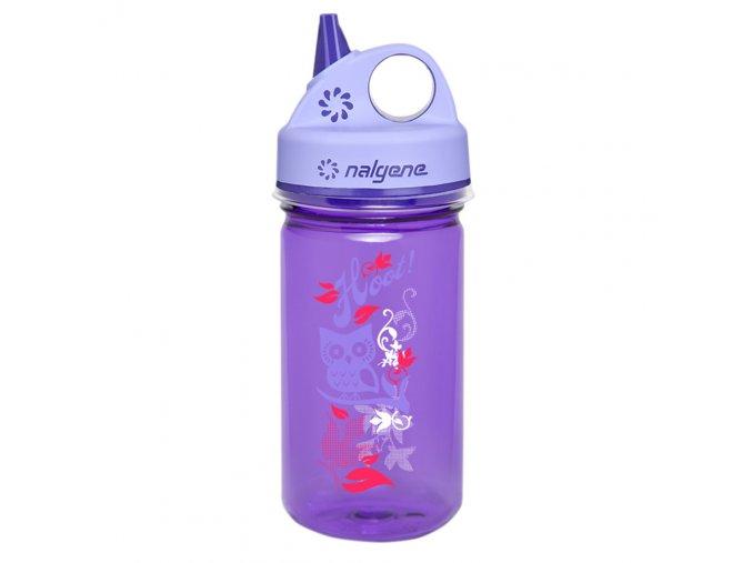 Nalgene Dětská lahev Grip´n Gulp 350 ml PURPLE HOOT