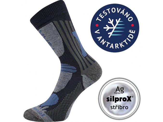 dětské merino ponožky modré 1