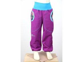 g2325 zimni kalhoty fialove masozravky tyrkys predek