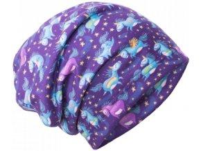 8775 5 unuo fleecova cepice jednorozci unuo fleece cap printed