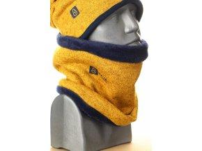 g2581 zimni svetrovy nakrcnik horcicova tm. modra