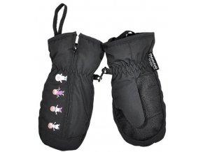 dětské zimní rukavice se zipem holka