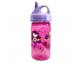 Nalgene Dětská lahev Nalgene Grip´n Gulp 350 ml PINK/PURPLE MERMAID