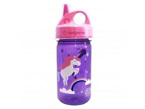 Nalgene Dětská lahev Nalgene Grip´n Gulp 350 ml PURPLE/PINK UNICORN
