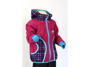 Baja design softshellová bunda RŮŽOVÉ KOSTKY poslední kus 122/128