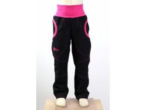g2060 detske soft. kalhoty cerne letni ruzova