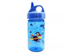 Nalgene Dětská lahev Nalgene Grip´n Gulp 350 ml Blue/Biplane