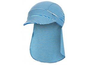 dětská letní čepice s plachetkou outlast modré pruhy