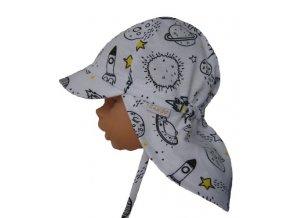 dětská letní čepice s plachetkou rakety