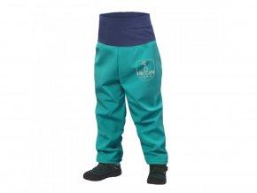 12375 unuo batoleci softshellove kalhoty s fleecem sv smaragdova