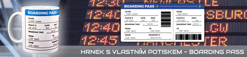 Hrnek s vlastním potiskem - Boarding Pass