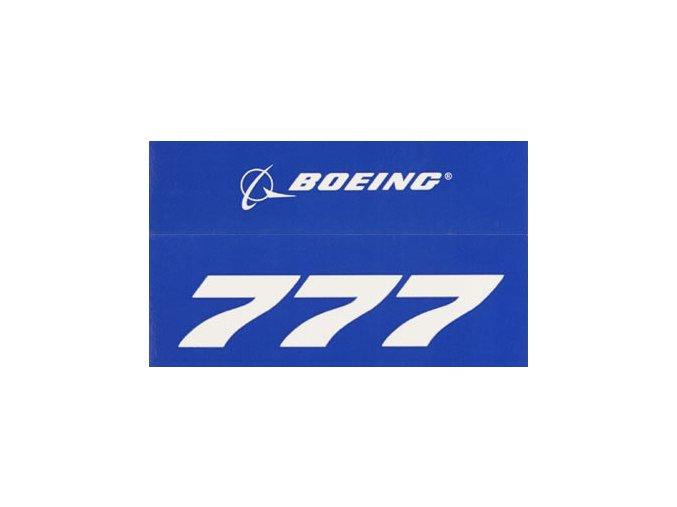 Samolepka BOEING 777 Modrá