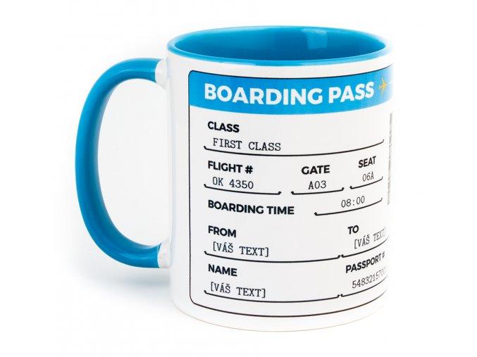 Boarding pass blue 1