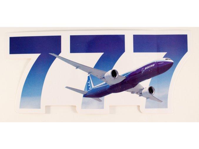 Boeing 777 samolepka