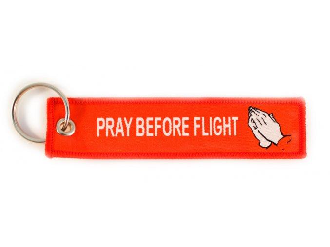 Přívěsek PRAY BEFORE FLIGHT