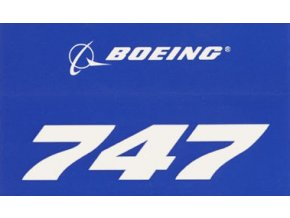Samolepka BOEING 747