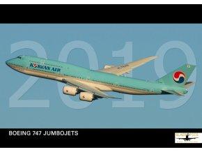 Kalendář 2019 - Boeing 747 Jumbojets