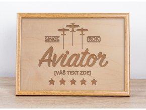 Aviator vlastni text