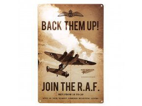 Plechová cedule Join RAF