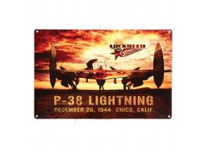 Plechová cedule P38 Sunset