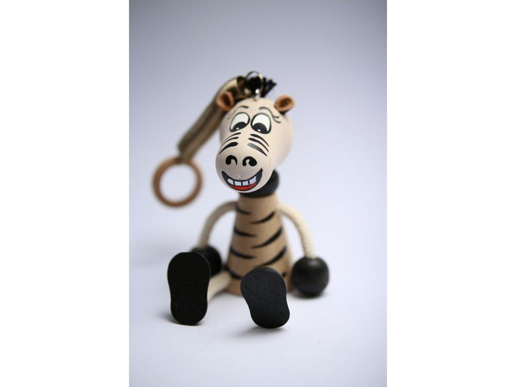 Zebra dřevěná hračka 1