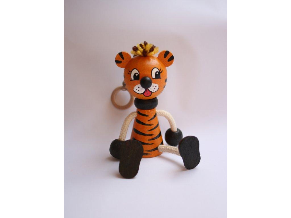 Dřevěná hračka tygr 1