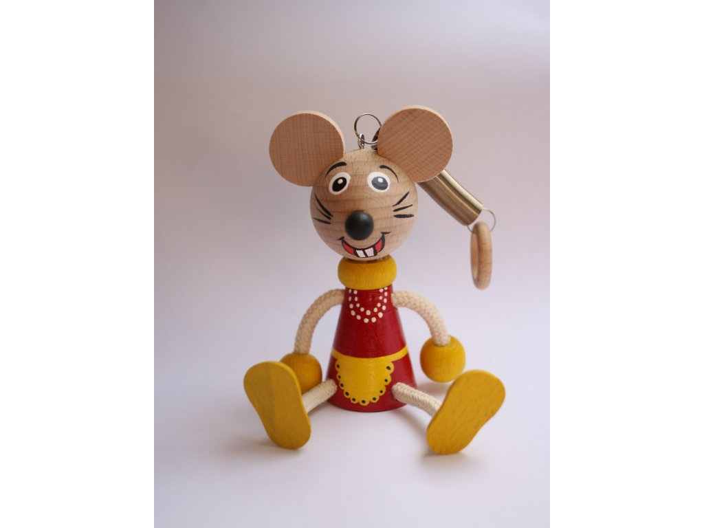 Dřevěná hračka - myška