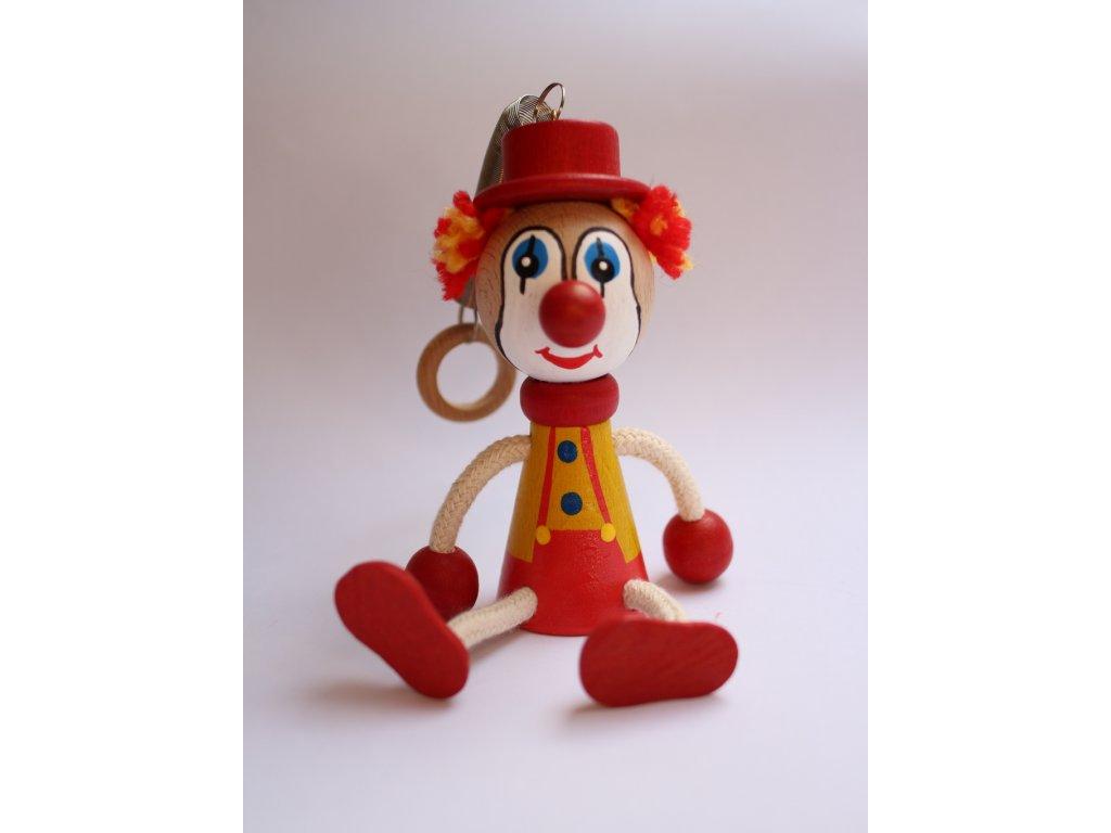 Dřevěná hračka klaun,šašek 1