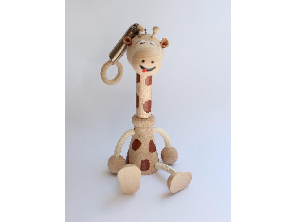 Dřevěná hračka žirafa 1