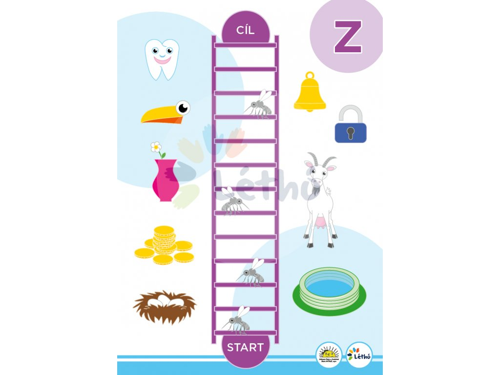 Logopedická hra nácvik písemene Z