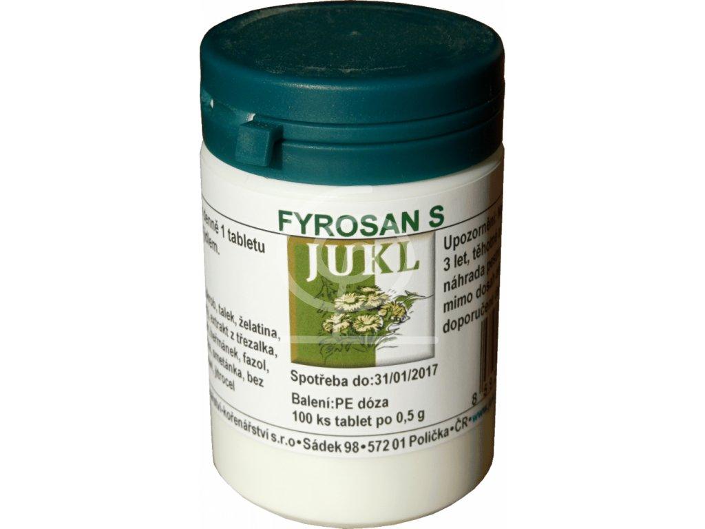 JUKL tablety Fyrosan S
