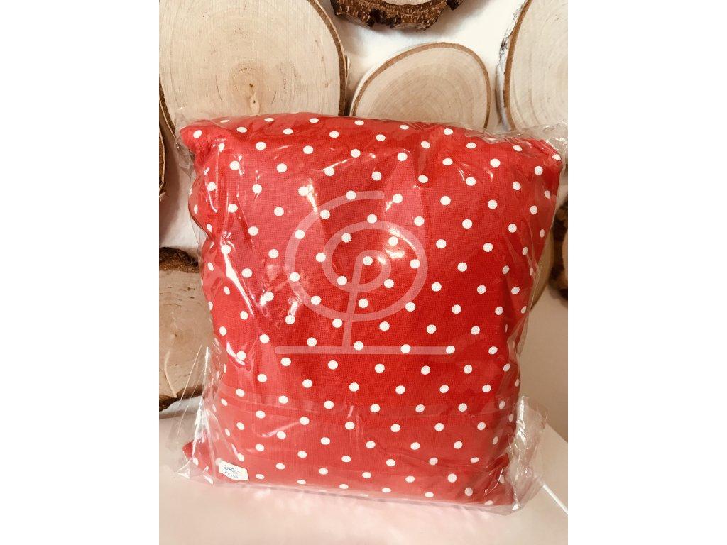 Nahřívací polštářek Super - červený s bílými puntíky