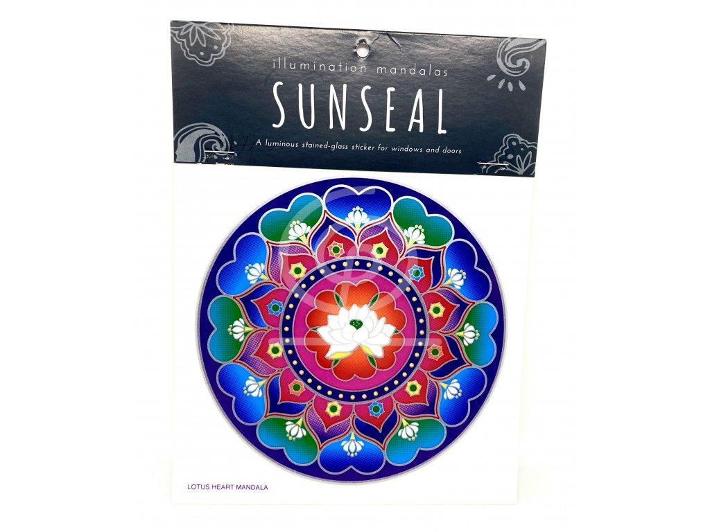 Sluneční mandala Lotus Heart