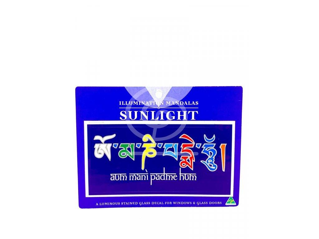 Sluneční mandala malá Ohm Mani Padme Hum