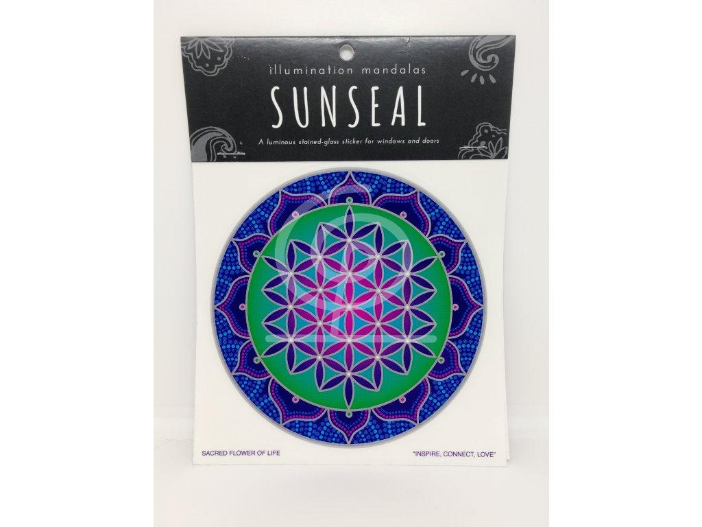 Sluneční mandala Sacred Flower of Life