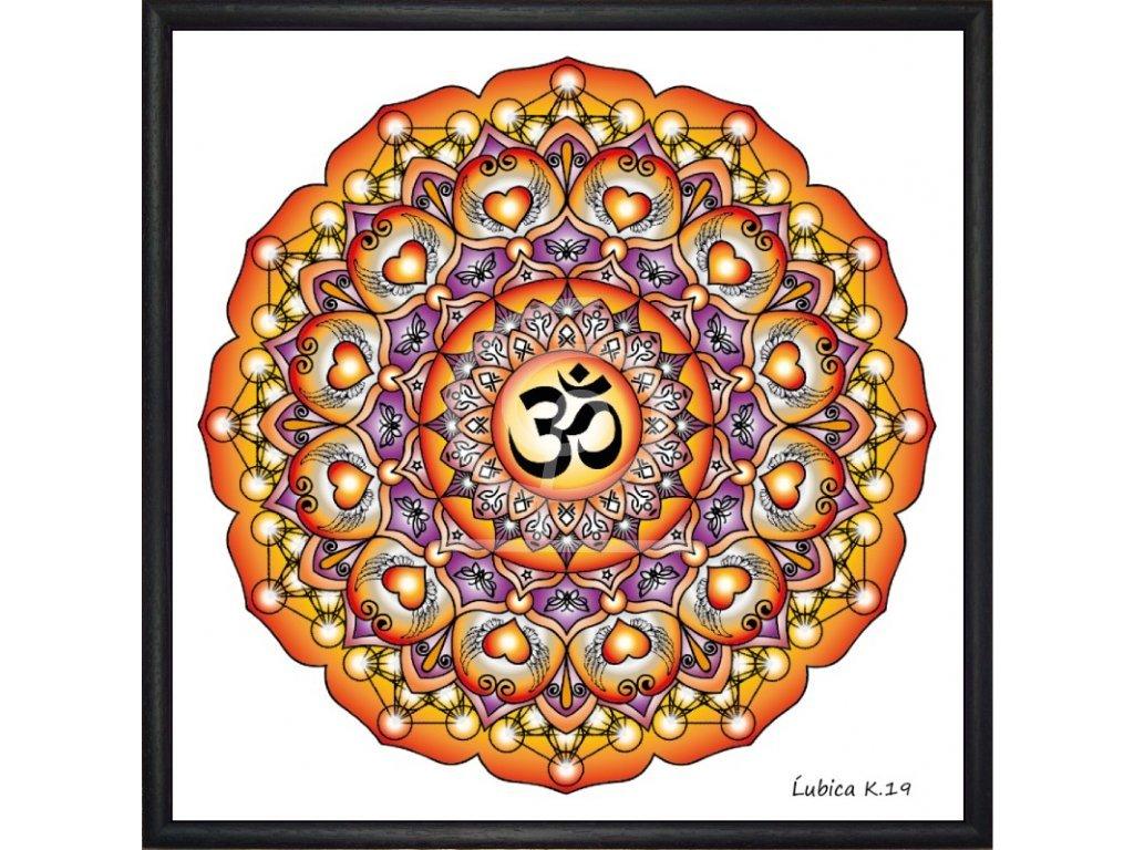 Obraz Mandala Óm 30x30cm