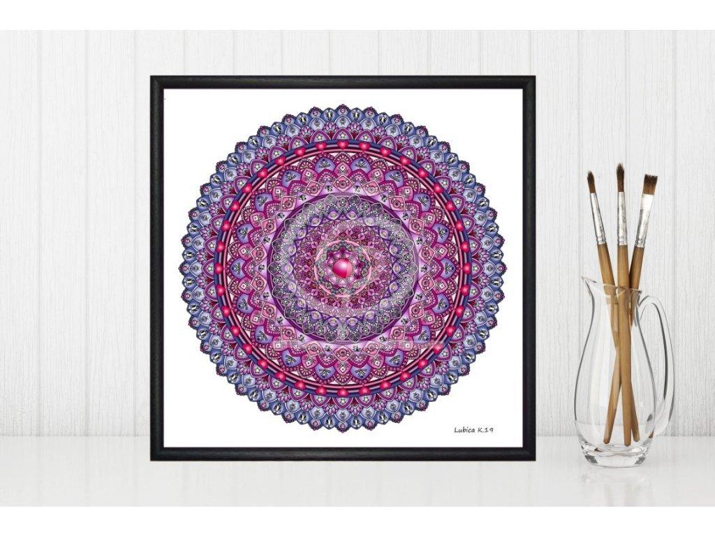 Obraz Mandala Pozitivní myšlení 30x30cm
