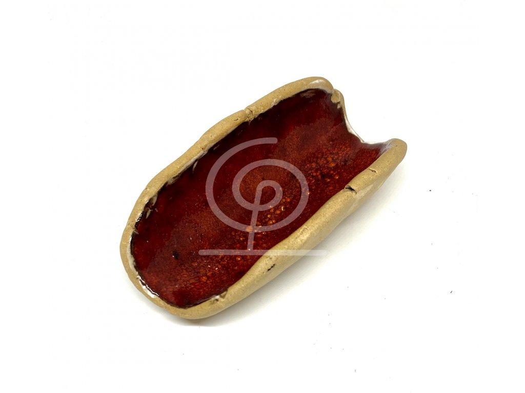 BAUBO Keramická miska na vykuřování (červená)