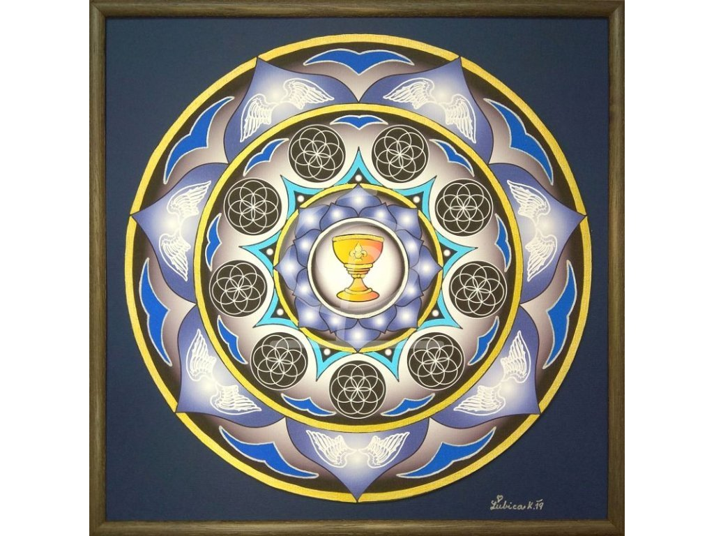 Obraz Mandala Svatý grál 30x30cm