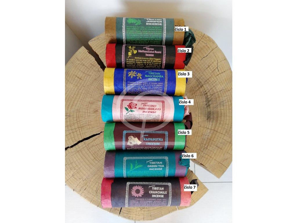 Vonné tyčinky Tibetan Incense druhy