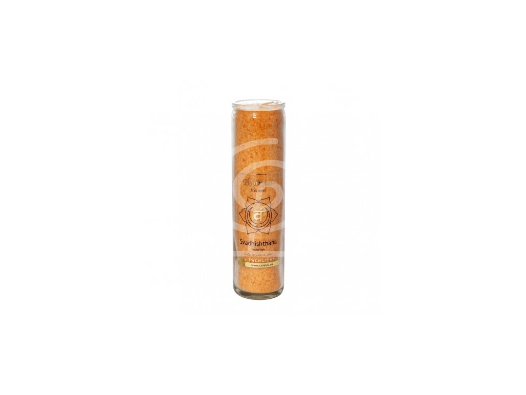 Svíce čakrová velká - Oranžová